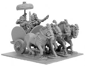 ANC20101 - Indian General's 4-Horse Chariot w/4 Crew